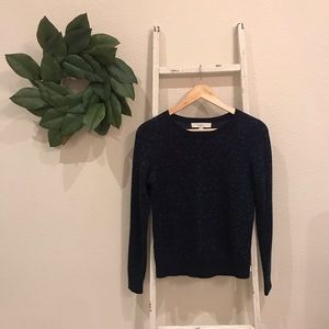 [Loft] Blue Cheetah Leopard Print Sweater